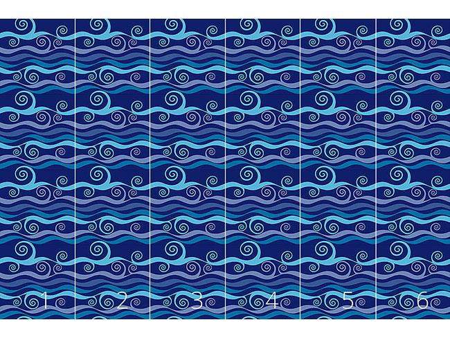 Designtapete Triton Blau