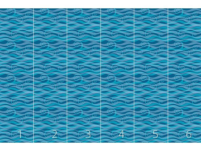 Designtapete Triton Aqua