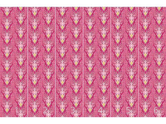 Designtapete Undine Pink