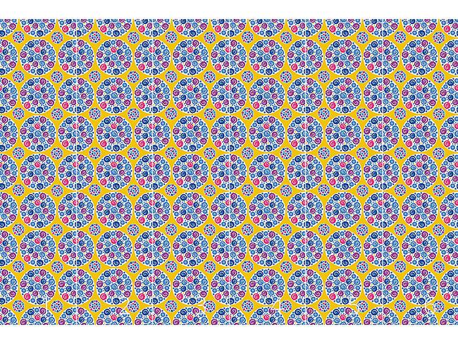 Designtapete Blumen Bouquet Gelb