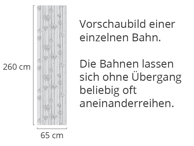 Designtapete Bambuswald Grau