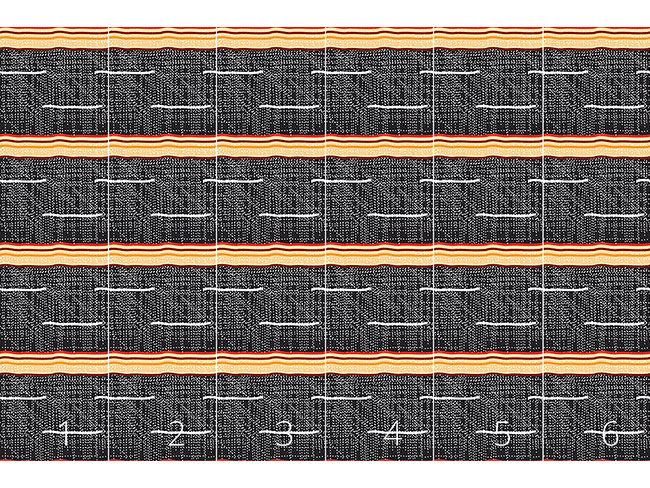 Designtapete Aborigine Textur