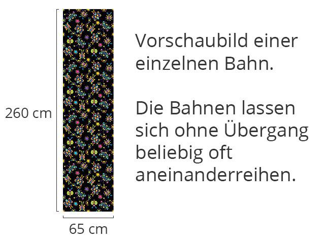 Designtapete Kribbel Krabbel Schwarz