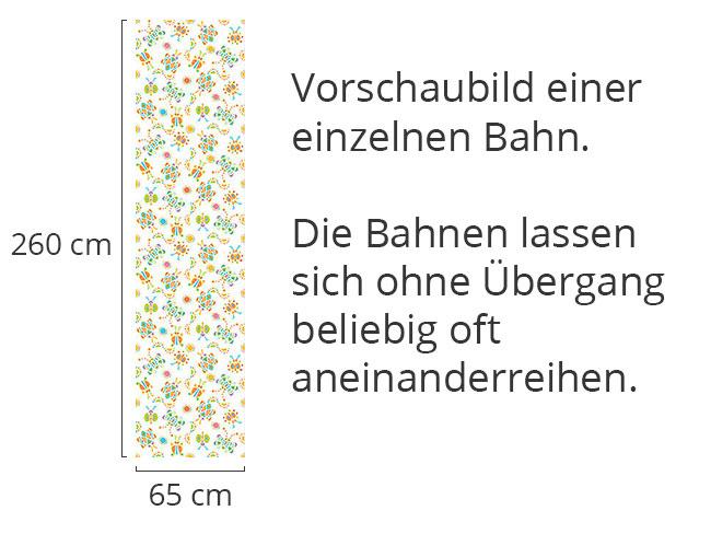 Designtapete Kribbel Krabbel Bunt