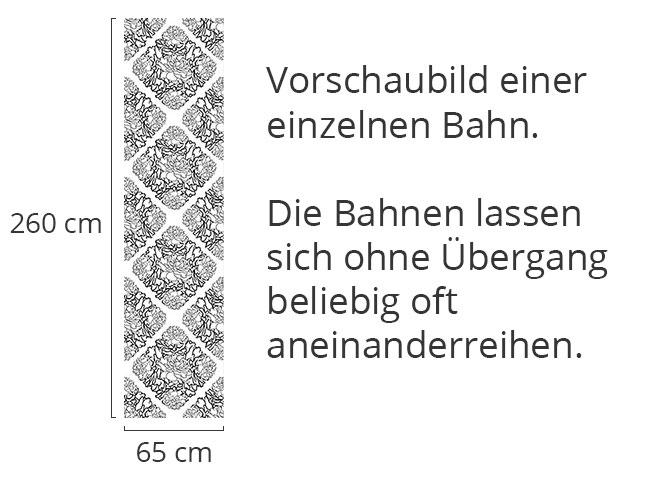 Designtapete Rosentraum Schwarz Weiss