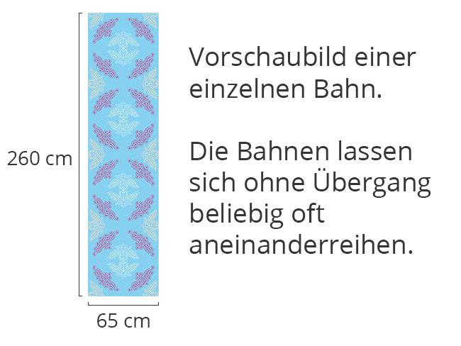 Designtapete Spitzen Ida Blau
