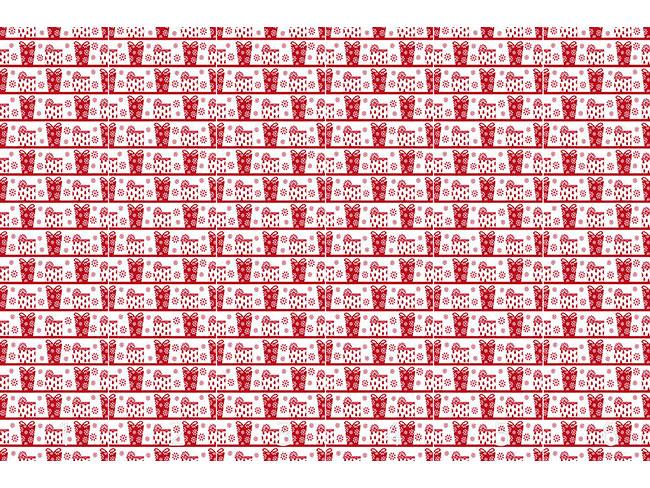 Designtapete Paketzustellung Rot