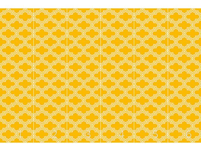 Designtapete Retro Marokko Sonnengelb
