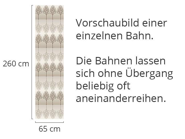 Designtapete Baumallee Braun