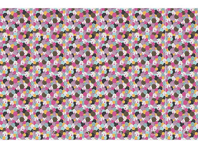 Designtapete Geburtstags Buttons Pink