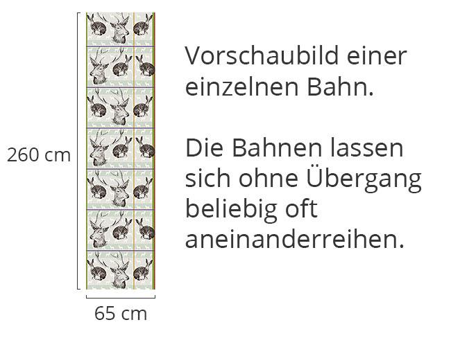Designtapete Wo Hirsch Und Hase