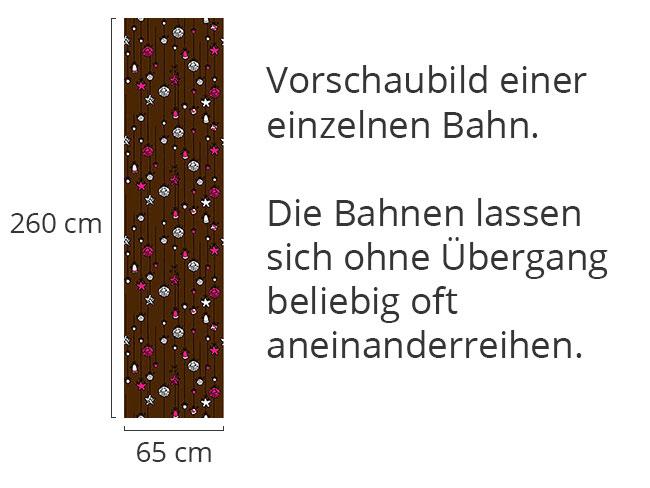 Designtapete Christbaumschmuck