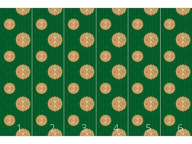 Designtapete Stilisierte Christbaumkugel Grün