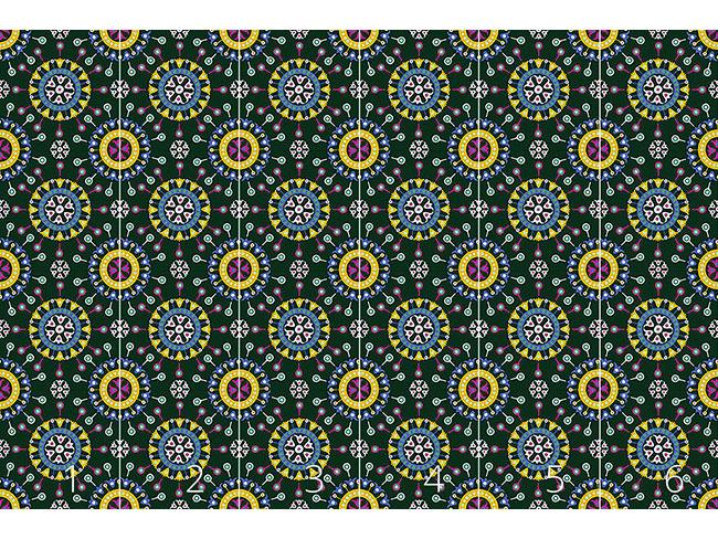 Designtapete Wayuu Ethno Traumnacht