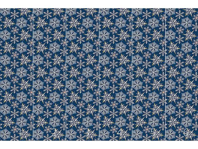Designtapete Kristallnacht Blau