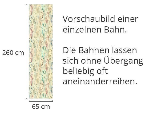 Designtapete Federn Handgezeichnet
