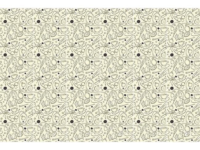 Designtapete Sketchboard Retro