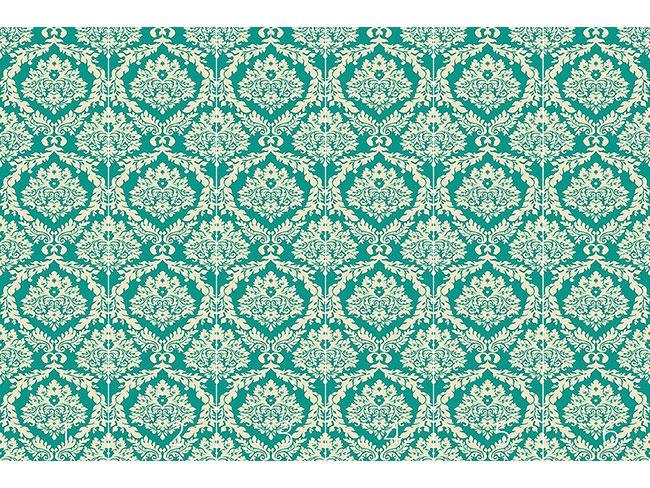 Designtapete Damast Smaragd