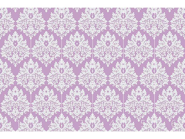 Designtapete Damast Violett