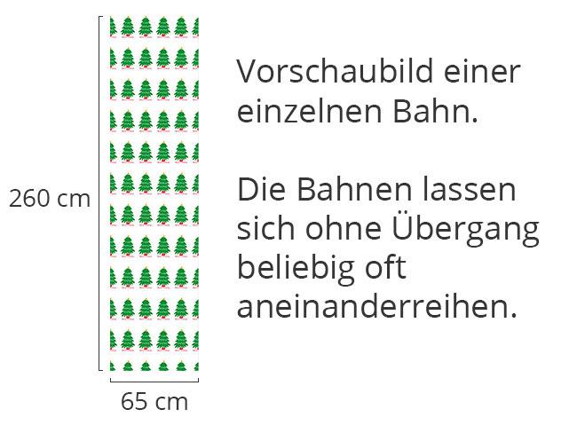 Designtapete Weihnachtsbaum Parade