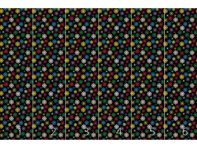Designtapete Schneekristall Variation