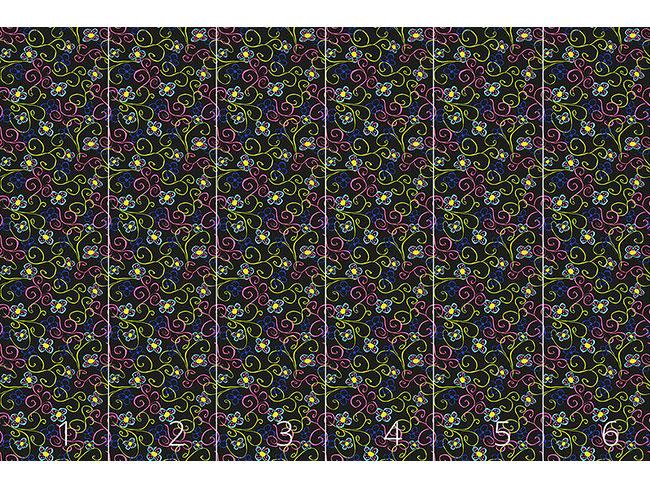 Designtapete Blumenwirbel