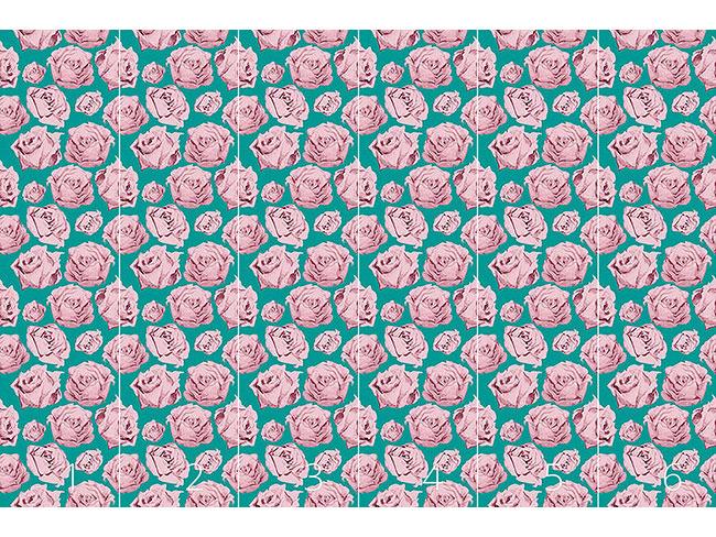 Designtapete Art Rose Smaragd