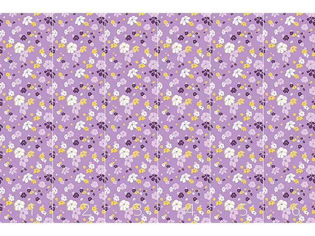 Designtapete Blumenregen In Flieder