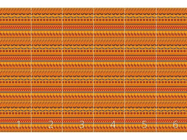 Designtapete Multi Kulti Orange