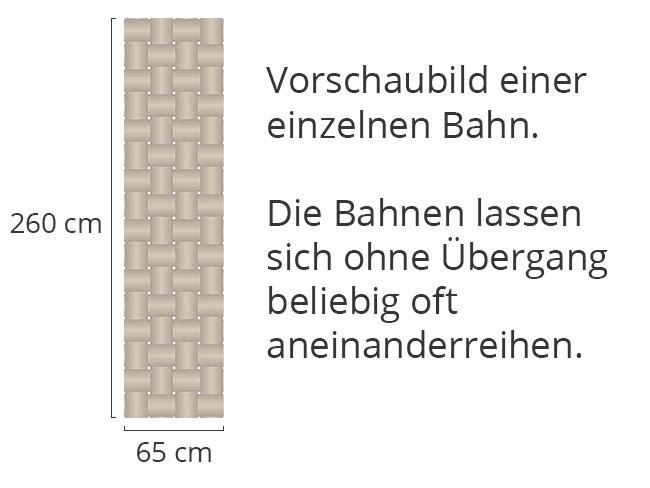 Designtapete Verflochten Braun