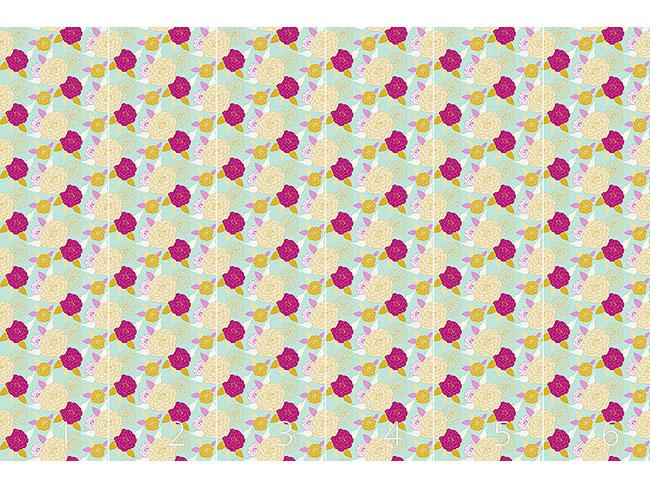 Designtapete Pompon Rose