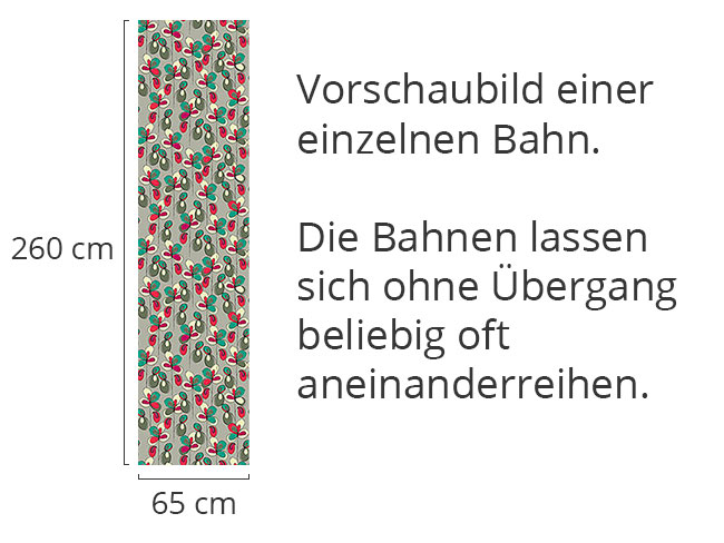 Designtapete Blumenglück Grau
