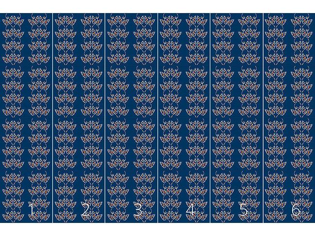 Designtapete Lockende Schmetterlinge auf Blau