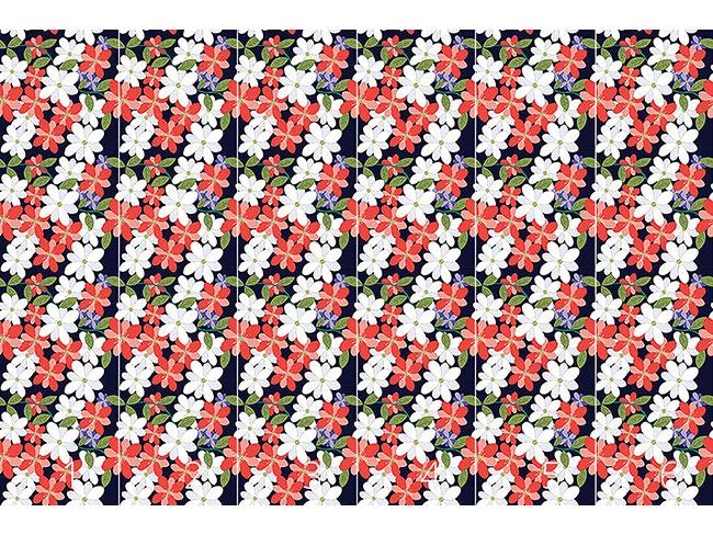 Designtapete Blüten Und Blätter