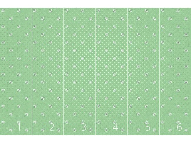 Designtapete Blümchen Auf Grün