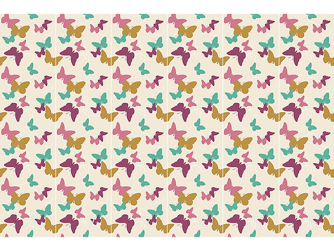Designtapete Zeit Der Schmetterlinge Vintage