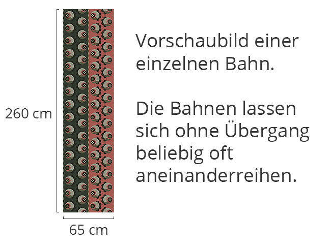 Designtapete Schattenröslein