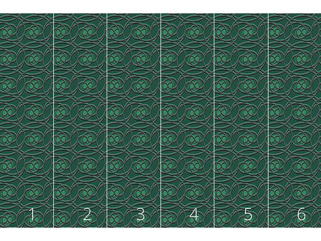 Designtapete Keltisch Smaragd