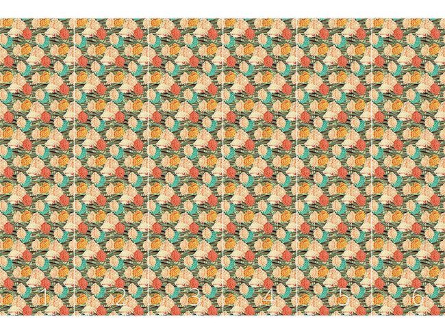 Designtapete Florale Strömung
