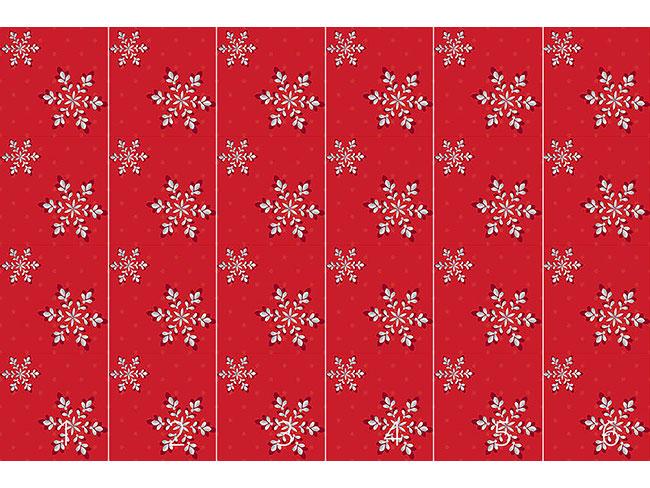 Designtapete Silberflocken Rot