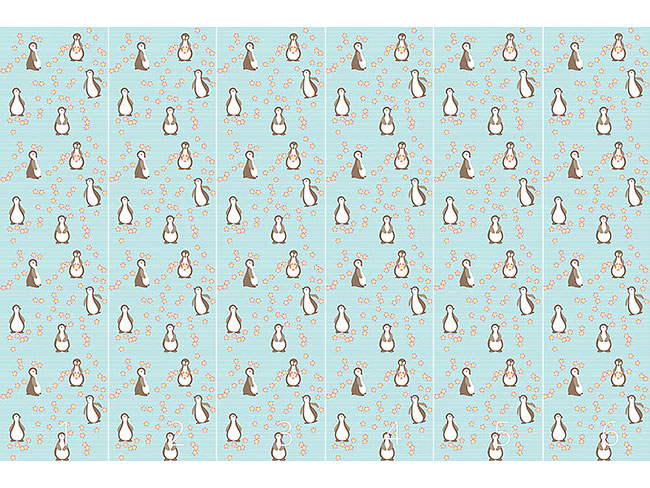 Designtapete Pinguin Blüte