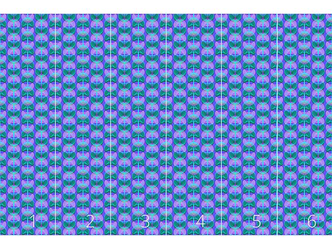 Designtapete Mollusken Blau