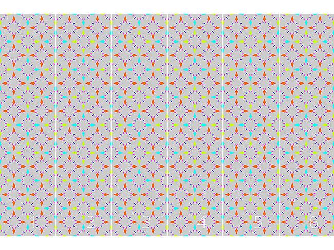 Designtapete Sterne Mosaik