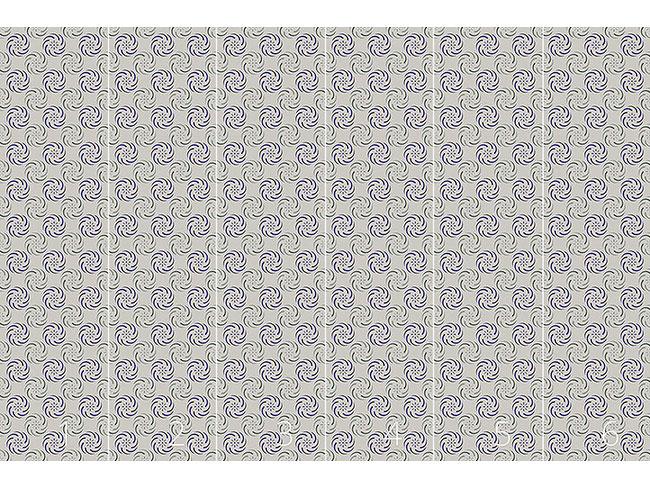 Designtapete Kreisel Auf Grau