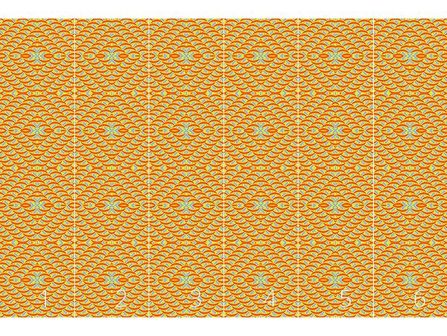 Designtapete Sommerfreude Zum Quadrat