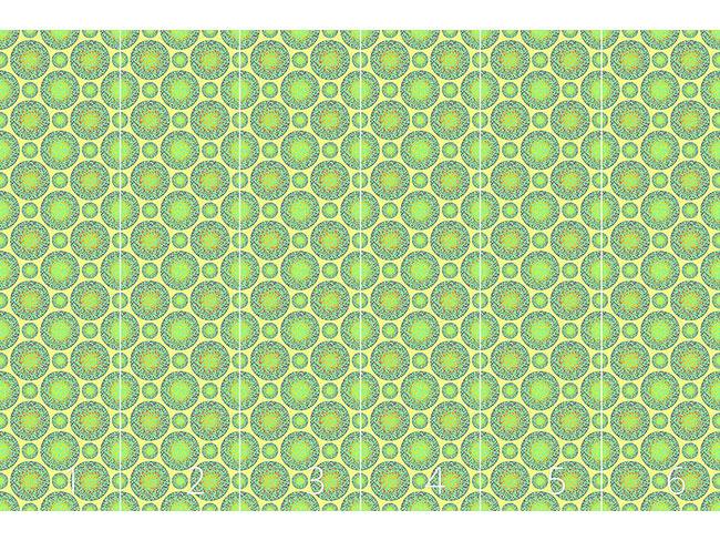 Designtapete Grüne Murmeln