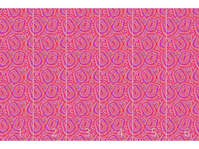 Designtapete Pink Achat