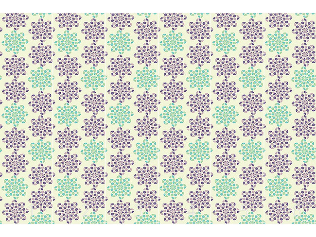 Designtapete Dotty Flowers