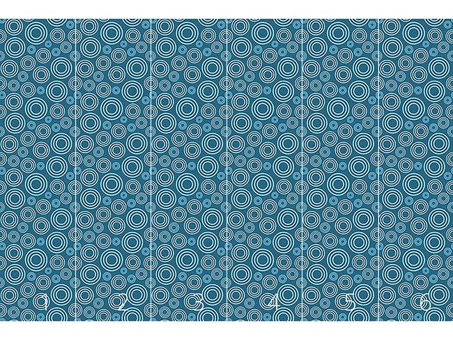 Designtapete Drops Blue