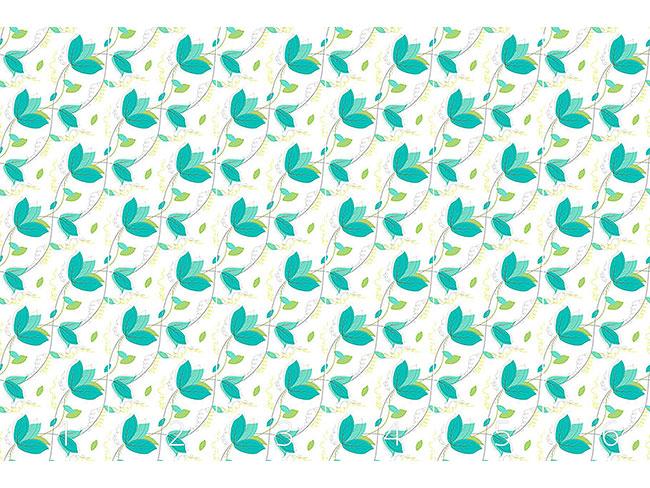 Designtapete Zarte Blätter